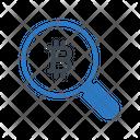 Search Bitcoin Find Icon