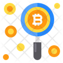 Find Coin Bitcoin Icon