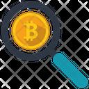 Bitcoin Search Business Icon