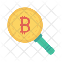 Search Bitcoins Magnifier Icon