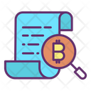 Cryptocurrency Search Search Bitcoin File Search Bitcoin Document Icon