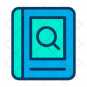 Book Search Data From The Book Magnifier Glass Icon
