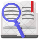 Knowledge Magnifying Glass Search Icon