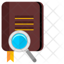 Book Find Magnifier Icon