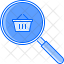Search Magnifier Basket Icon