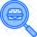 Search Burger Fast Icon
