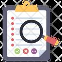 Search List Search Checklist List Analysis Icon