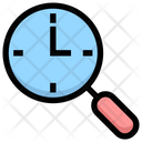 Search Clock Time Clock Icon