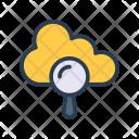 Cloud Server Magnifier Icon