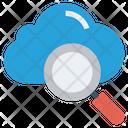 Cloud Magnifier Finance Icon