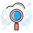 Search Cloud Magnifying Search Backup Icon