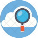 Search Cloud Magnifying Icon