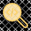 Coding Search Glass Icon