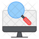 Search Computer Find Computer Computer Analysis Icon