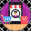 Shopping Customer Search Consumer Eshop Icon