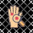 Search Corona Virus Corona Virus On Hand Hand Icon
