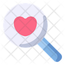 Search Magnifying Heart Icon