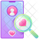 Search Dating Search Date Find Date Icon