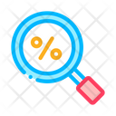 Percent Search Signs Icon