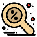 Discount Find Magnifier Icon