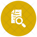 Search Document File Magnifying Icon
