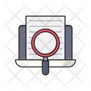 Search Document Laptop Icon