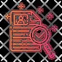 Gradient Document Find Icon