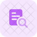Search Document Search File Find Icon