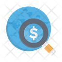 Search Dollar Market Icon
