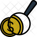Search Dollar Search Money Magnifying Icon
