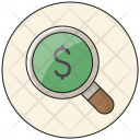 Search Dollar Find Icon