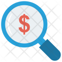 Dollar Search Magnifier Icon