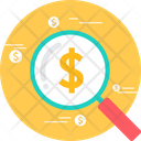 Bank Microscope Cash Icon