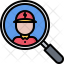 Search Man Electrician Icon