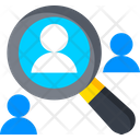 Search Employee Hr Human Resource Icon