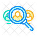 Employee Search Color Icon