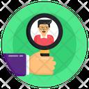 Search Employee Search Profile Recruitment Icon