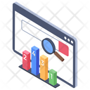 Search Engine Evaluation Search Engine Visualization Search Engine Analytics Icon