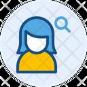 Search Female User Icon
