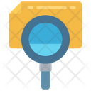 Search File Audit Magnifying Glass Icon
