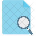 Search File File Scanning Magnifier Icon