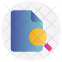 Searching File Magnifier Icon