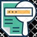 File Search Magnifier Icon