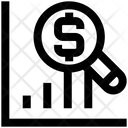 Graph Magnifier Search Icon
