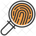 Search Finger Print Magnifying Glass Icon
