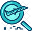 Travel Blue Magnifying Icon