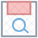 Search Floppy Magnifying Icon