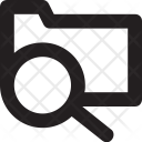 Search Folder Magnifier Icon