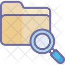 Search Folder Folder Magnifying Magnifier Icon