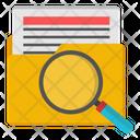 Search Folder Search File Search Document Icon